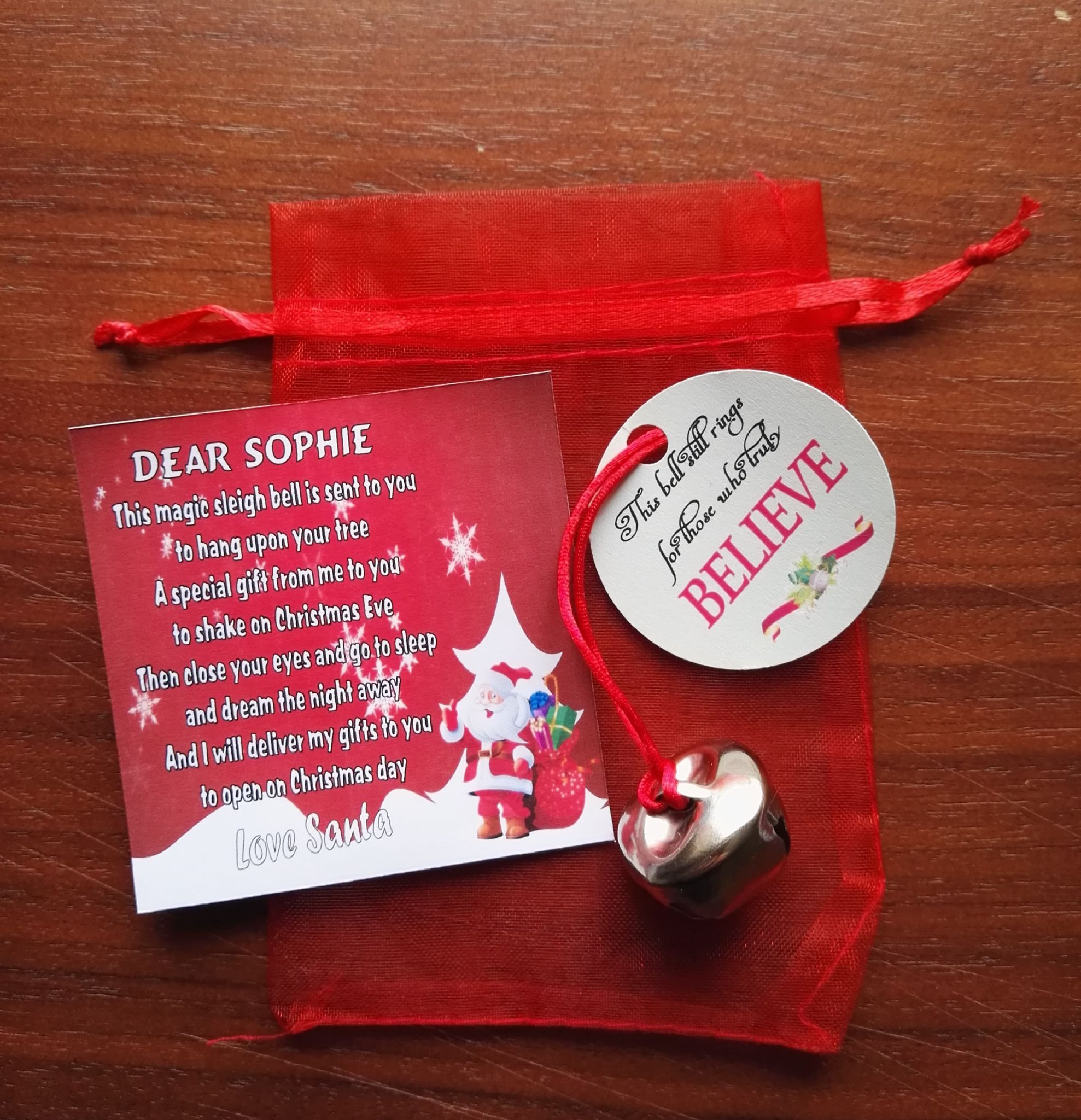 Polar Express Inspired Sleigh Bell Gift From Santa With
